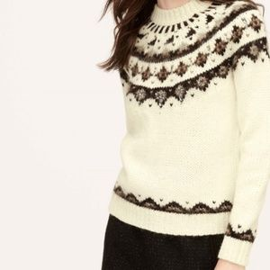 Ann Taylor Loft Sweater Alpaca Rhinestone Petite M